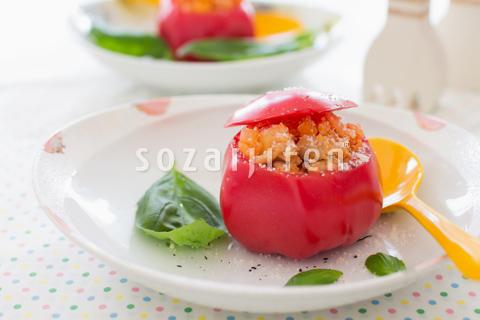 カップトマトのリゾット