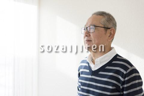 年配の男性イメージ