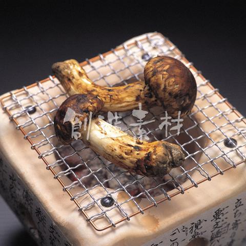 マツタケ炭火焼き
