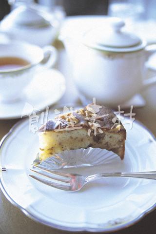 クルミのショートケーキ