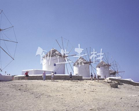 カトミリの風車とエーゲ海