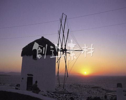 風車とエーゲ海