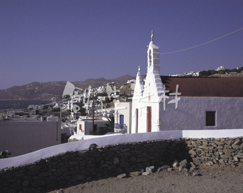 ミコノス島の教会