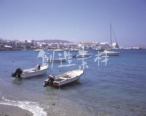 リマニ港とエーゲ海
