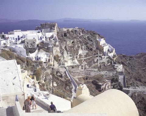 遺跡とエーゲ海