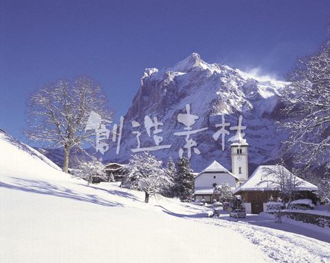 ヴェッターホルンとグリンデルワルトの教会