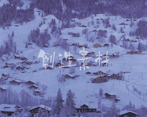 登山電車の走る丘