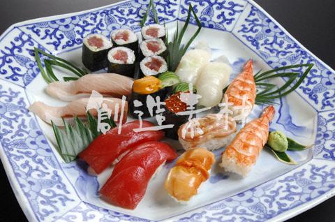 多種のにぎり寿司