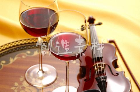 赤ワインとバイオリン