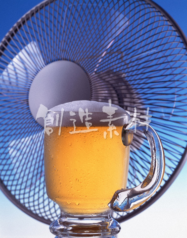 生ビールと扇風機