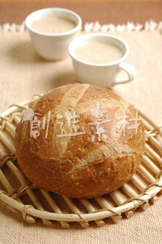 田舎パンとカプチーノ