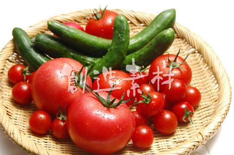 トマトとミニトマトとキュウリ