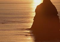 夕焼けの海