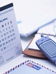 携帯電話とカレンダー