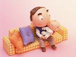 クラフト(お父さんと赤ちゃん)