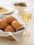 パンと白ワイン
