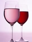 ロゼワインと赤ワイン