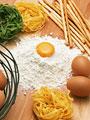 卵とパスタ