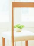 サラダボウルと椅子