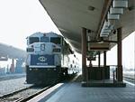 電車とプラットホーム