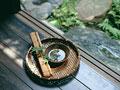巻き簀と小鉢