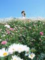 花畑の女性