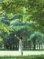 森林の女性