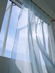 レースカーテンと窓