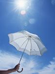 青空と日傘