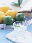 ミント水とフルーツ