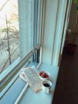 窓辺のコーヒーとイチゴ