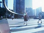都心の横断歩道