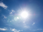 青空と太陽