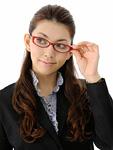 メガネをかけたビジネスウーマン