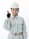 指を差す建設作業員