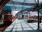 ベルリン中央駅のプラットホーム