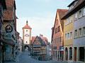 ロマンチック街道のローテンブルクの街角
