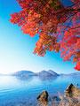 洞爺湖と紅葉