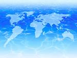 水面と世界地図