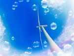 青空と風車