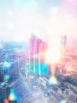 光と市街地