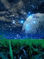 町並と星空