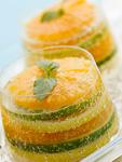 フルーツと炭酸水のデザート