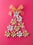 花のクリスマスツリー