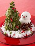 クリスマスツリーと雪だるま