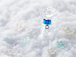 天使の置物とシュガーフラワー