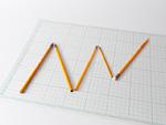 鉛筆の折れ線グラフ