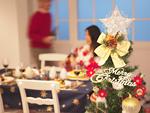 クリスマスツリーと食卓