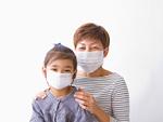 マスクをする母子