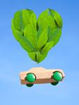 ハート形の葉とミニカー